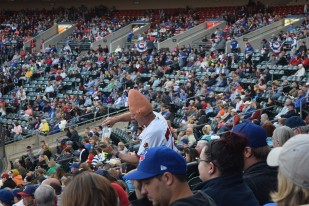 The Legendary Conehead in action.