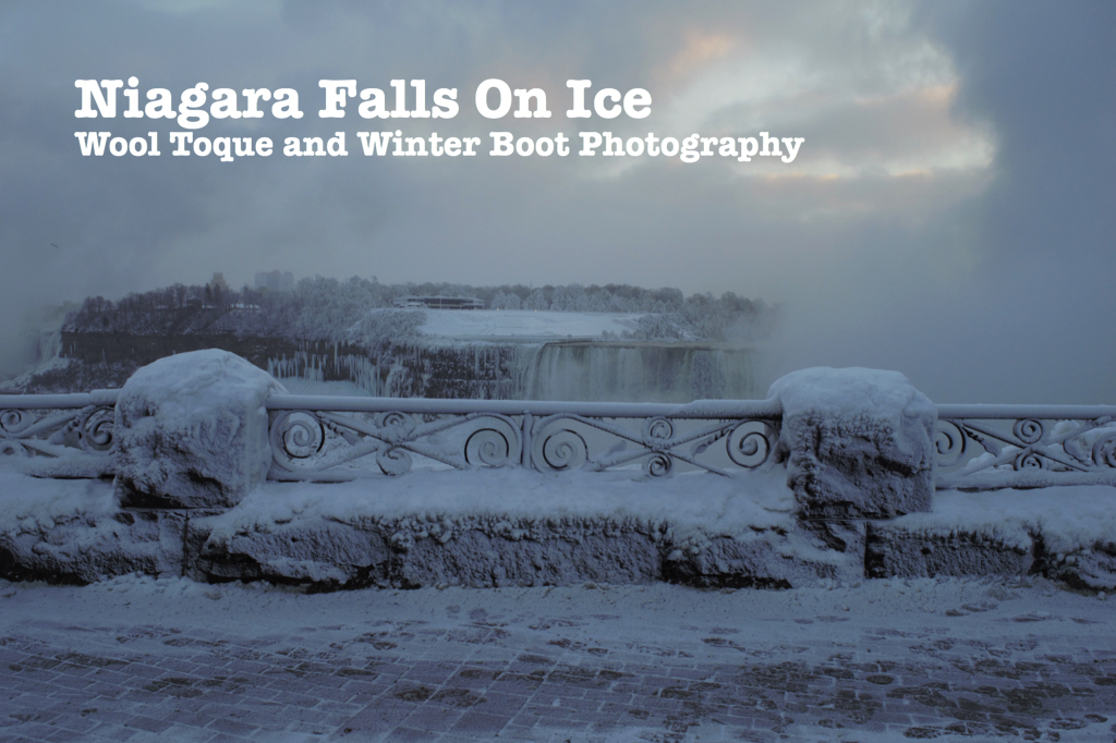 Niagara Falls On Ice Wool Toque And Winter Boot Photography